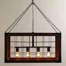 Modern Rectangular Chandelier Rectangle Dining Light Thedwelling Info