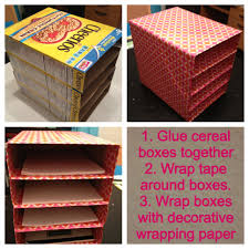 Decorative Hanging File Boxes Awesome Ways To Recycle Cereal Boxes Ways To Recycle Cereal