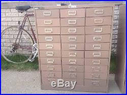 metal parts cabinet drawers steelmaster metal 30 drawer parts bin cabinet vg cond