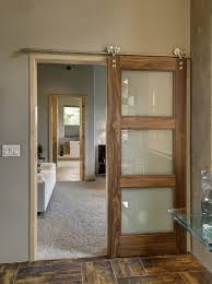 steel frame glass doors furniture sliding clear glass barn doors with brown wooden frame