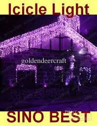 cheap outdoor purple 110 led icicle lights