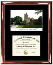 of illinois diploma frame personalized of illinois urbana chaign uiuc lithograph