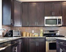 Small Kitchen With Dark Cabinets Small Kitchen Cabinet Hbe Kitchen