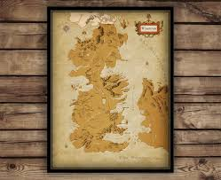 Map Westeros Game Of Thrones Map Westeros Map Game Of Thrones Poster