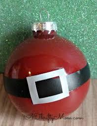 diy ornament santa s belly made with nail