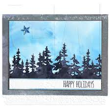 tim holtz cling mount sts tree line cms244
