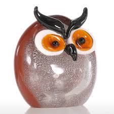 best and cheap multicolored tooarts chubby owl glass ornament