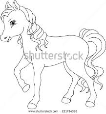illustration funny horse coloring book stock vector 68259259