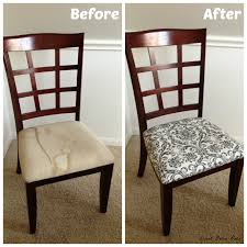 Dining Room Makeover Before  After Room Craft And DIY Furniture - Reupholstered dining room chairs