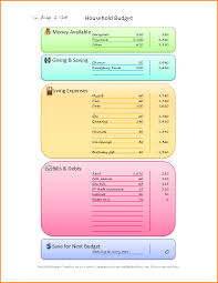 Family Budget Spreadsheet 7 Household Budget Template Memo Templates