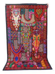 designer vintage embroidered patchwork tapestry boho hippie wall