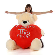 valentines teddy bears 5ft size teddy cozy cuddles fur with jumbo