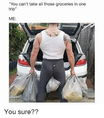 Me You Meme - you can t take all those groceries in one trip me you sure