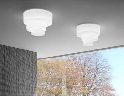 Italian Ceiling Lights Leucos Pl Modern Italian Designer Ceiling Light In White Glass