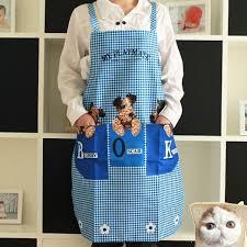 Men Cooking Aprons New Cute Kitchen Restaurant Dog Men Women Bib Cooking Aprons Gift