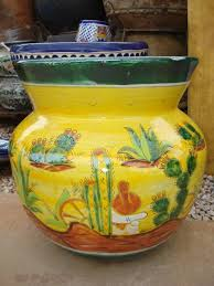 Mexican Pottery Vases Talavera Items