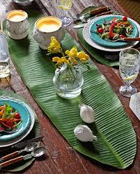Leaf Table Runner Balihai Table Runner