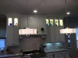 42 Upper Kitchen Cabinets by Lighted Glassed Stacked Upper Kitchen Cabinets