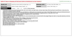 Assembly Line Resume Assembly Resume Sample Printed Circuit Board Assembly Supervisor