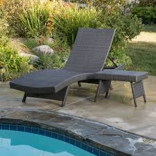 Patio Lounge Chairs Canada by Olivia Outdoor Grey Wicker Adjustable Chaise Lounge And Table Set
