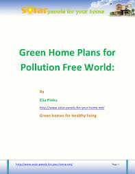 green home plans free green home plans for pollution free world