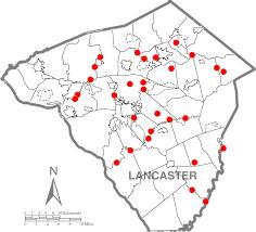 Lancaster Map File Lancaster County Existing Covered Bridges Dot Map Png
