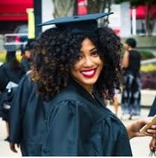 nursing graduation hairstyles with cap the perfect graduation cap style for natural hair cap natural