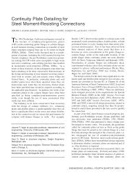 continuity plate detailing for steel moment resisting connections