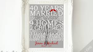 40th wedding anniversary gifts for parents 40th wedding anniversary gifts for parents inspiration diy