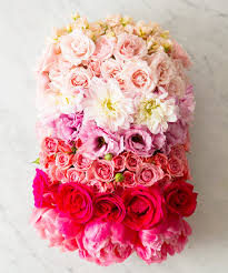 How To Make Floral Arrangements How To Create An Ombre Flower Arrangement Instyle Com