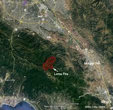 Maps Google Com San Jose by Loma Fire Causes Evacuations South Of San Jose Calif U2013 Wildfire