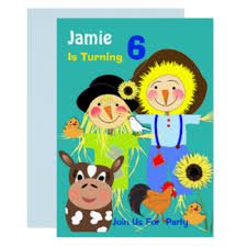 farm themed birthday party invitations u0026 announcements zazzle co uk