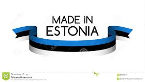 Estonian Flag Colored Ribbon With The Estonian Tricolor Made In Estonia Stock