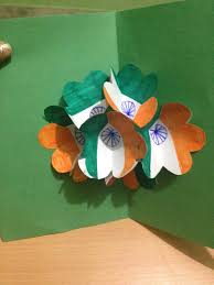 how to make pop up card indian flag tricolour greeting card