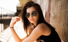 beautiful with sunglasses