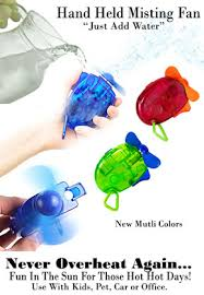 held battery operated fan new battery powered held misting fan the fastest way to cool