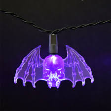 purple bat led string lights battery operated