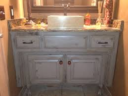 painted glazed distressed bathroom vanity started with graphite