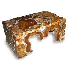 natural wood coffee table with tree wood be one of creative