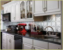 Metallic Tile Backsplash by Glass And Metal Tile Backsplash Home Design Ideas