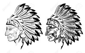 american indian chief tattoo royalty free cliparts vectors and