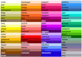 colour shades with names pictures colour names with pictures black hairstle picture