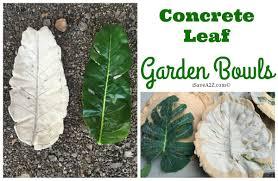 diy concrete leaf garden bowl isavea2z com