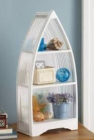 boat shaped wooden shelf unit boat shelves pinterest wooden
