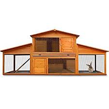 Rabbit Hutch With Large Run Wooden Rabbit Hutch Large Guinea Pig Animal Cage Xxl Double