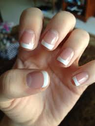 how to do french manicure with short nails manicure pinterest