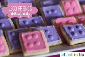 lego friends birthday party sugar cookies urban bliss life
