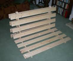 Diy Folding Bed How To Make A Fold Out Sofa Futon Bed Frame 14 Steps With Pictures