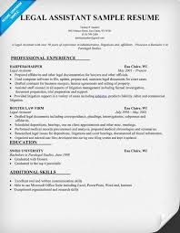 Paralegal Resume Samples by Paralegal Sample Resume Template Examples