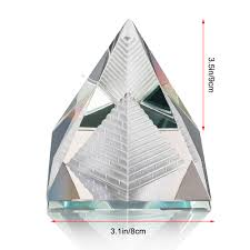 3 size of egypt egyptian crystal pyramid ornament in gift box energy